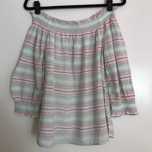 NWT INC Striped Off-The-Shoulder Top